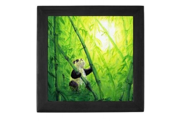 Panda Bamboo Art Keepsake Box by CafePress