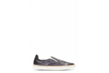 Maison Martin Margiela Pewter Leather Slip on Shoes