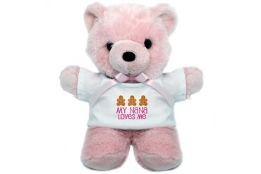 Nana Loves Me Gingerbread Cute Teddy Bear by CafePress