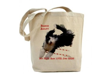 Beardie Agility Dogs Tote Bag by CafePress