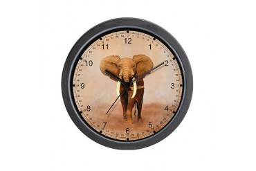 Painted Elephant Wall Clock