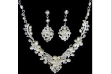 AA Bridal Necklace & Earring Set - Style NE517M