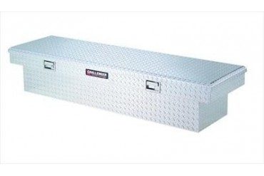 Deflecta Shield Accessories Challenger; Single Lid Notched Crossover Storage Box 5350 Truck Bed Rail to Rail Toolbox