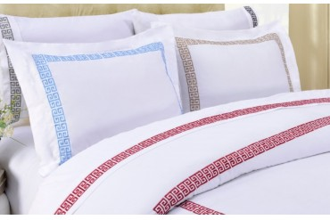 Kendell Embroidered Sheet Set, 100% Long-Staple Cotton