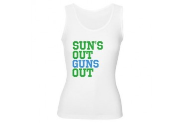 Sun's Out Guns Out Funny Women's Tank Top