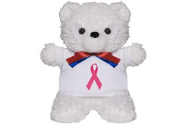 Breast Cancer Awareness Ribbon Cancer Teddy Bear by CafePress
