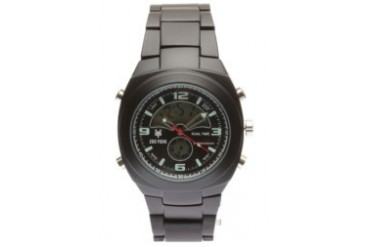 Black-Plated Analog Watch