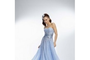 "Mori Lee Paparazzi ""In Stock"" Blue Dress - Style 95030"