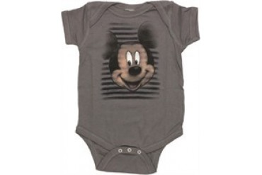 Disney Mickey Mouse Face Stripes Snap Suit