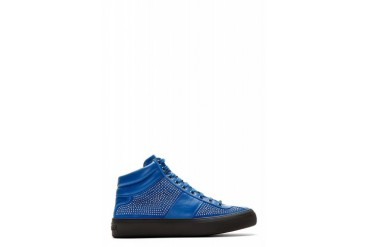 Jimmy Choo Blue Studded Belgravi High top Sneakers