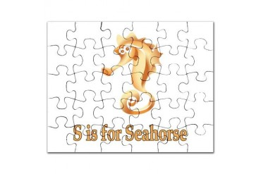 S is for Seahorse Baby Puzzle by CafePress