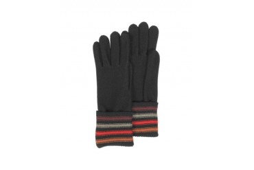 Black with Stripes Wool Gloves