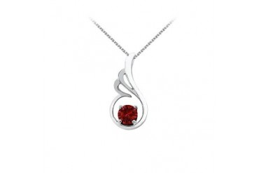 Pendant in 14K White Gold with Free Chain Coolest Price and Stunning Design