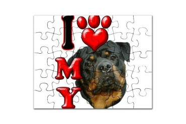 I Love My Rottweiler.png Animals Puzzle by CafePress