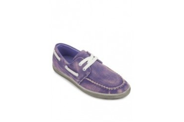 Wash Effect Lace Up Boat Shoes