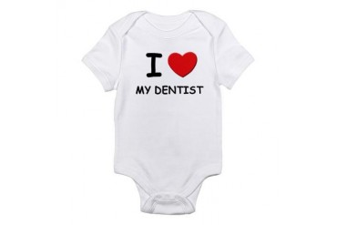 I love dentists Nurse Infant Bodysuit by CafePress