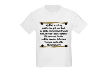 Military Poem My Daddys got your back Kids T-Shirt