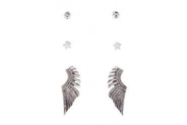 Parfois Set of 3 Wing Earrings