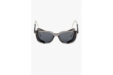 Thom Browne Grey And Navy Side cage Crystal Sunglasses