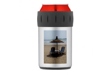 Moroccan Beach Thermos Can Cooler Beach Thermosreg; Can Cooler by CafePress