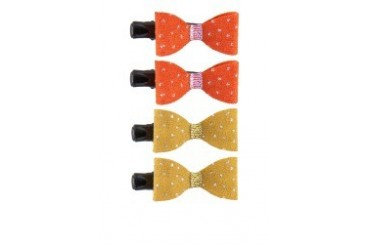 Criss Cross Dotted Twin Clips