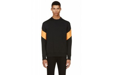 Givenchy Black Wrap around Panel Sweater