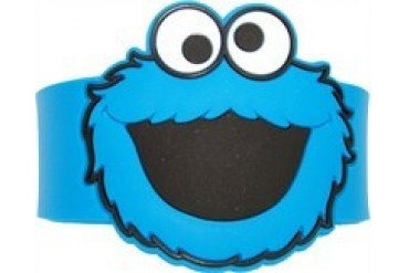 Sesame Street Cookie Monster Head Rubber Wristband