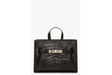 Proenza Schouler Black Alligator Leather Ps11 Large Tote