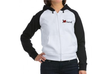 I love tiaong Heart Women's Raglan Hoodie by CafePress