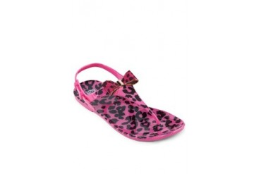 Leopard Jelly Sandals