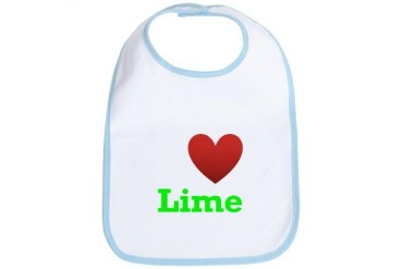 i-love-lime-dark-tee.png Humor Bib by CafePress