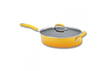 Rachael Ray 5qt Covered Oval Saut Pan - Yellow