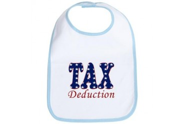 Tax Deduction stars - Baby Bib by CafePress