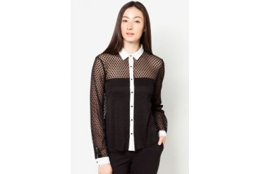 DressingPaula Textured Long Sleeve Top