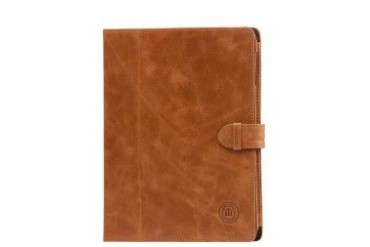 Leather folio case for iPad - Golden tan