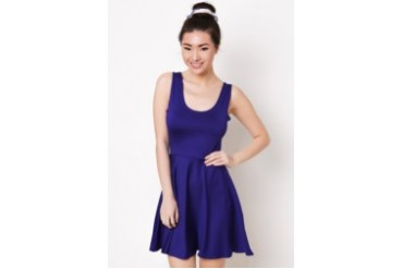 Mailey Dress with Matching Hair Ponytail