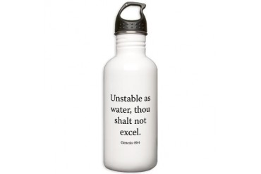 Genesis 49:4 Christian Stainless Water Bottle 1.0L by CafePress