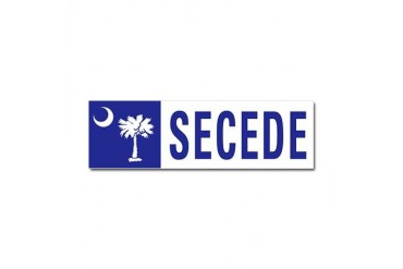 Secede - SOUTH CAROLINA Conservative Car Magnet 10 x 3 by CafePress