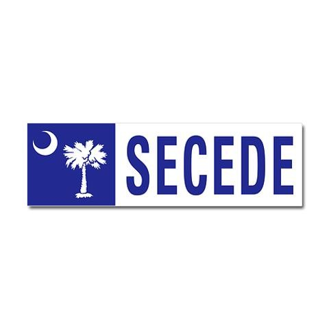 Secede south carolina conservative car magnet 10 x 3 by cafepress