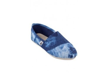 Kathryn Washed-out Denim Slip-ons