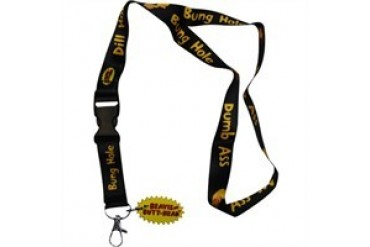 Beavis and Butthead Insults Logo Charm Lanyard