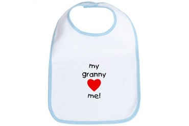 My granny loves me Mother's day Bib by CafePress