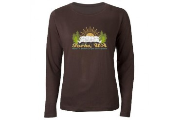 Forks, WA Vintage Women's Long Sleeve Dark T-Shirt