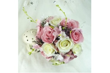 Superb Round Artificial Silk Bridesmaid Bouquets (123048085)