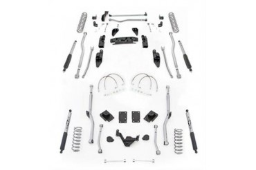 Rubicon Express 4.5 Inch Extreme Duty 4-Link Front/Rear Radius Long Arm Lift Kit with Mono-Tube Shocks JK4R24M Complete Suspension Systems and Lift Kits
