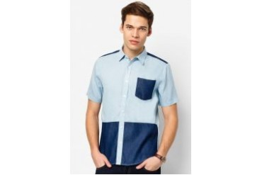Neverland Two Tone Short Sleeves Shirt