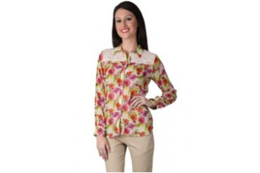 Now & Forever Now Forever Flower Beige Shirt with Lace Detail