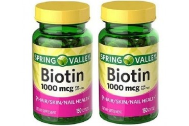 Spring Valley Biotin Softgels 1000 mcg 2 Bottle Pack