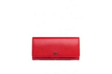 Foldover Long Leather Wallet