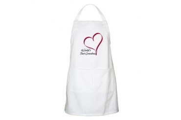 World's Best Grandma Heart BBQ Mother's day Apron by CafePress